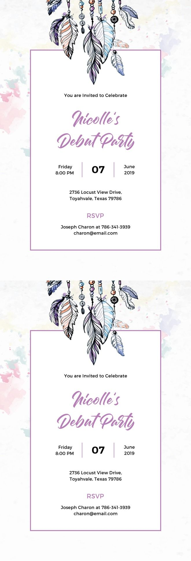 The 25 best debut invitation ideas on pinterest debut ideas free boho debut invitation template printable debut invitation design for birthday party event with stopboris Gallery