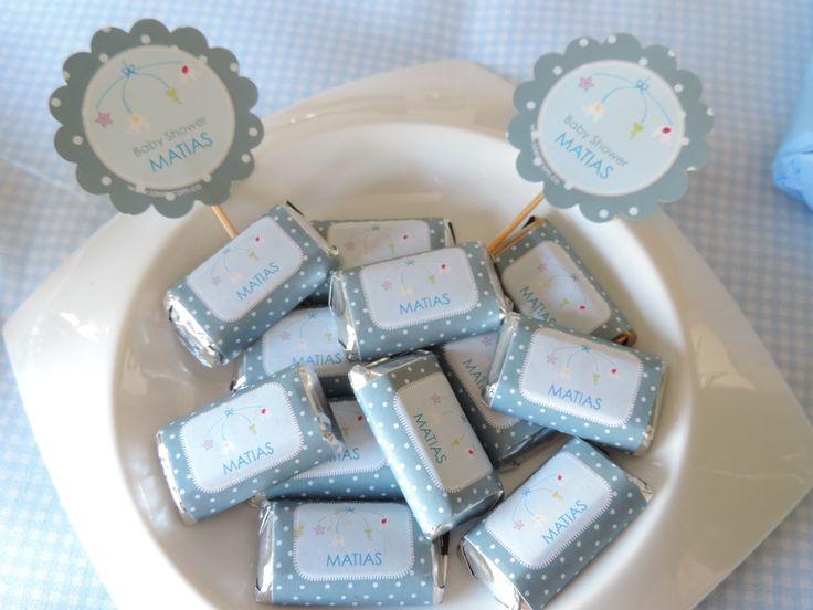 Mini Hersheys personalizados para Baby Shower Móvil