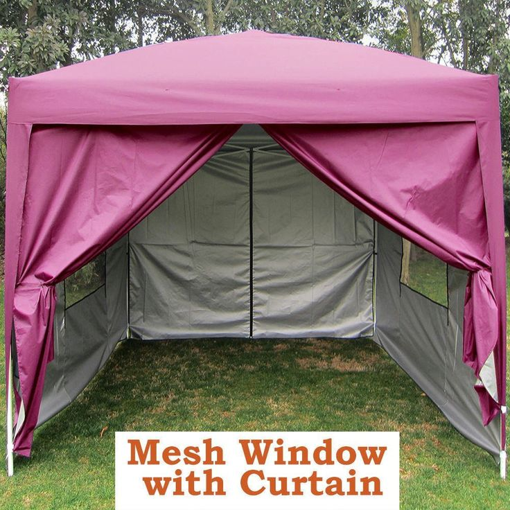 Quictent Privacy 8'x8' Pink EZ Pop Up Party Tent Canopy Gazebo Screen Curtain 100% Waterproof ** Click image for more details.