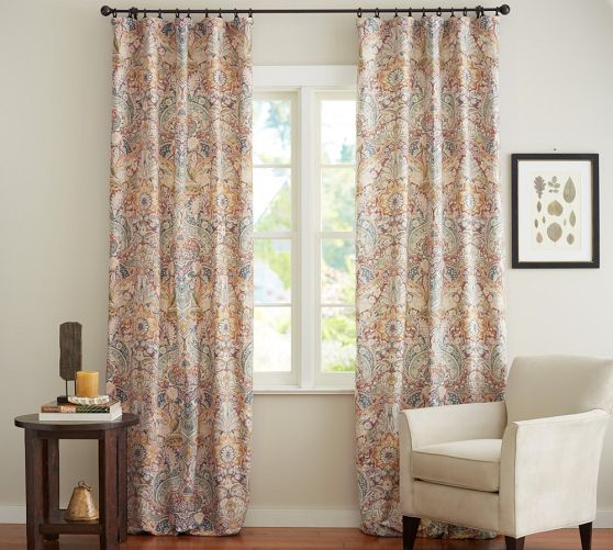 Celeste Damask Drape Pottery Barn Curtains Pinterest