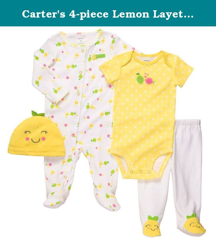 Carter's 4-piece Lemon Layette Set (NB-9M). Carter's 4-Piece Lemon Layette Set (NB-9M).