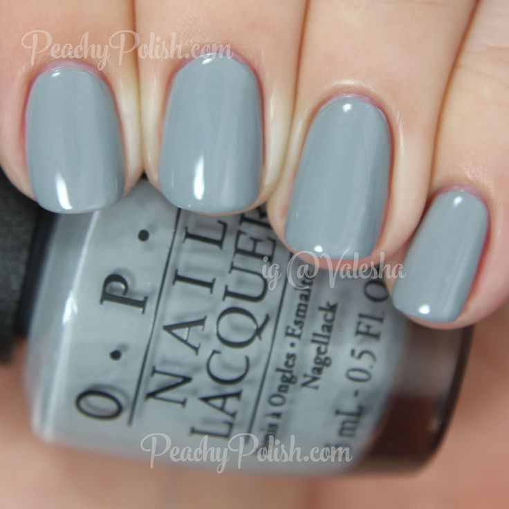 "OPI Cement The Deal | Fifty Shades of Grey Collection | Peachy Polish ""Cement The Deal"" is a light concrete gray creme with very slight blue undertones.  Perfect formula.  2 coats."