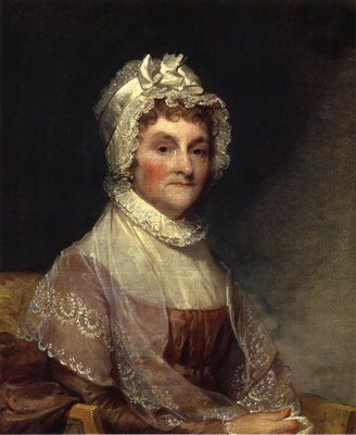 Abigail Adams, wife of President John Adams and mother of President John Quincy Adams.  Portrait by Gilbert C. Stuart.