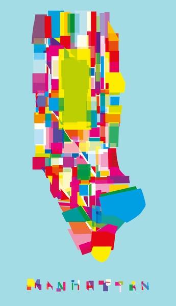 Manhattan Fragments Art Print, by Yoni Alter on Society6