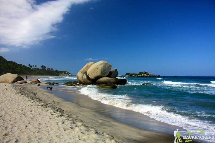 Colombia Travel – The Beach Boulders on Arrecifes Beach in Tayrona National Park