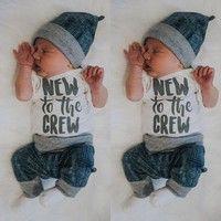 Wish   Infant Newborn Baby Boy Girl Long Jumpsuit Romper Bodysuit Cotton Clothes Outfit