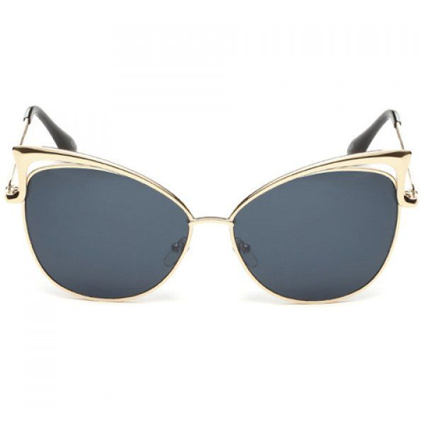 Chic Hollow Out Golden Metal Cat Eye Frame Women's Sunglasses #jewelry, #women, #men, #hats, #watches, #belts, #fashion