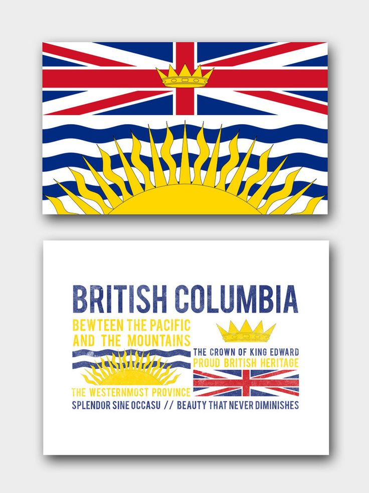 British Columbia Flag Elements Tee  #greatcanadianjourney #flag #province #motto #elements #canada #clothing #tshirt