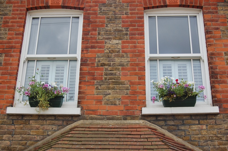 Cafe style shutters to compliment this lovely cottage
