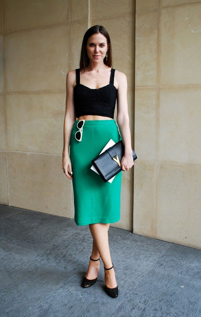 midi: Fashion, Crop Tops, Cropped Tops, Street Style, Outfit, Spring Summer, Pencil Skirts