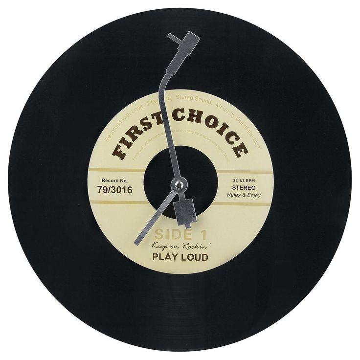 Vinyl  Wandklok  »Vinyl« | Nu te koop bij Large | Meer Rockabilly  Wandklokken & Wekkers online beschikbaar - De beste prijs!