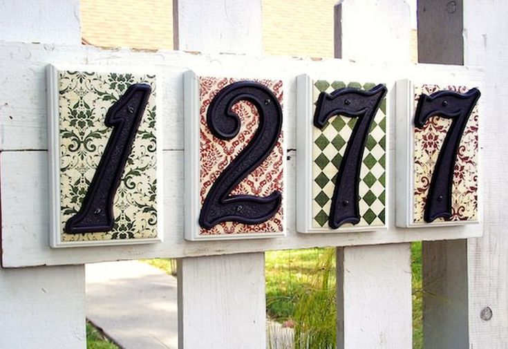 diy house numbers plaque