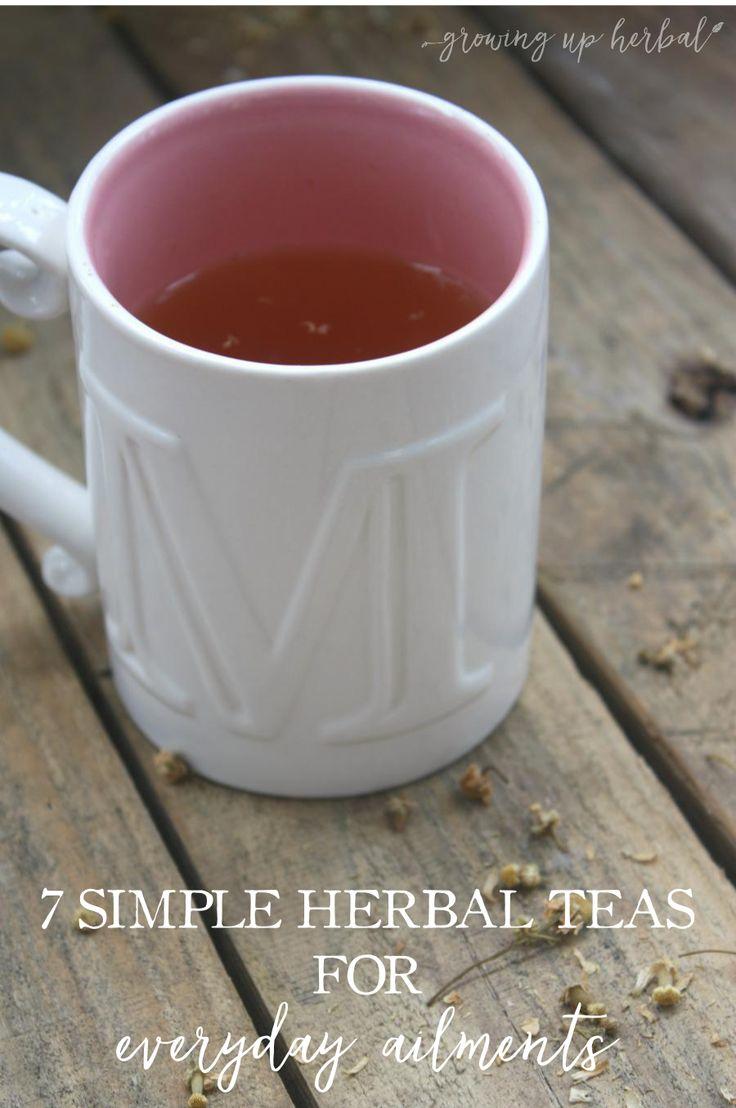 7 Simple Herbal Teas For Everyday Ailments