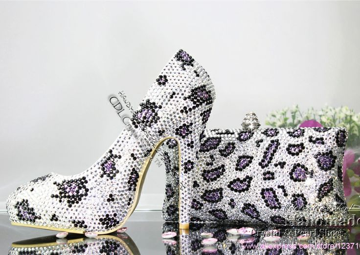 Hot Sale 2014 New Fashion 12cm High Heels Platform Women Pumps leopard Wedding Dress Party Shoes With Leopard Clutch bag $223.20
