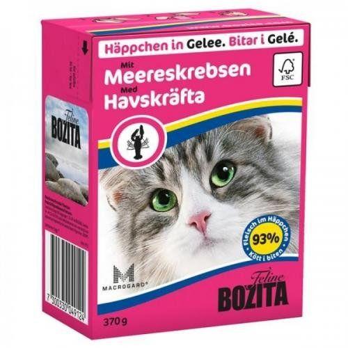 Aus der Kategorie Nassfutter  gibt es, zum Preis von EUR 49,95  <br /><br />Bozita Häppchen in Gelee mit Meereskrebsen ist eine von zwölf leckeren, traditionellen schwedischen Geschmacksrichtungen. Eine komplette Katzennahrung für junge Kätzchen und erwachsene Katzen. Bozita Häppchen in Gelee wird in praktischen, umweltfreundlichen Verpackungen angeboten, die sich beim Öffnen und Schließen einfach bedienen lassen. Bozita wird aus qualitativ hochwertigen schwedischen Rohstoffen wie Fleisch…