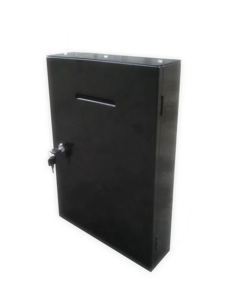 Metal Box Mail box Secure Collection Box Ticket Box,Easy Wall Mount 14785