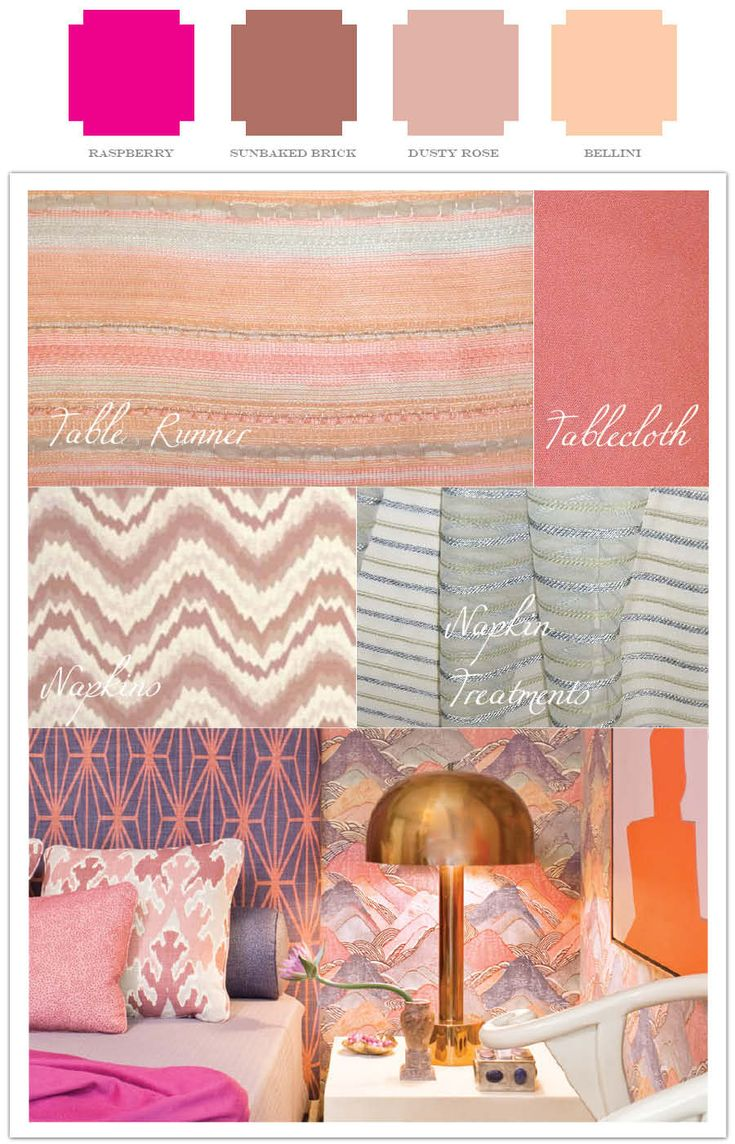 Hot pink, terra cotta, dusty rose and peach inspiration for your wedding or event
