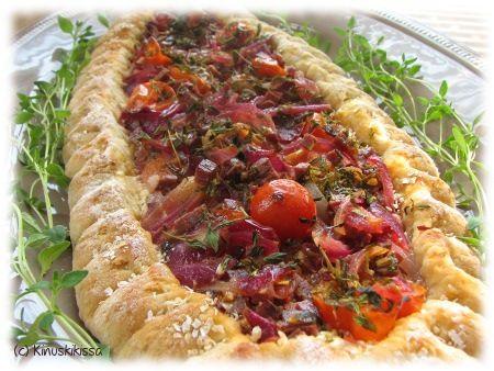 Täytetty poroleipä #resepti #leipä #piirakka #kevyt #leivonta #poro