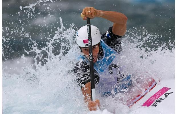 Tony Estanguet of France competes in the Men's Canoe Single (C1) Slalom semi-final on Day 4 of the London 2012 Olympic Games at Lee Valley White Water Centre on July 31, 2012 in London, England.