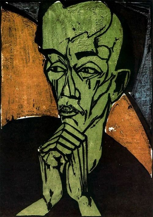 Erich Heckel:  Männerbildnis (1919)