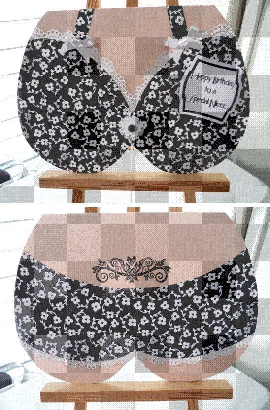 Bra and panties card