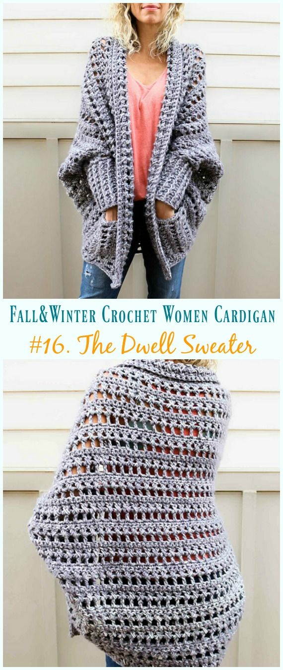 Fall & Winter Women Cardigan Free Crochet Patterns | CROCHET ...