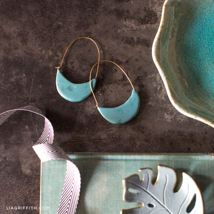 6418c00549dcf Photo Tutorial: How to Make Polymer Clay Earrings | Projects to try ...