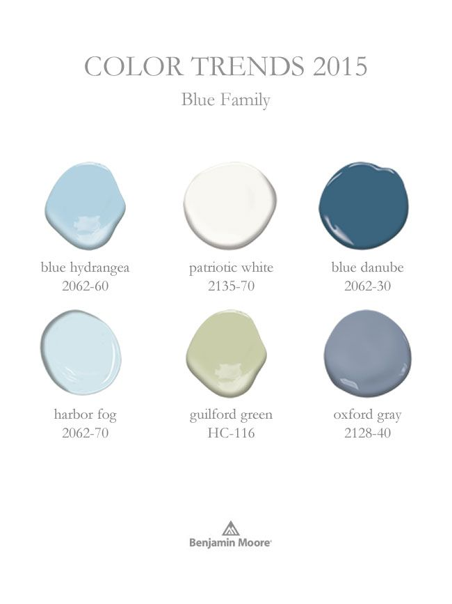 Pin these dollops for a collection of hues you'll want to use over and over again, from Harbor Fog 2062-70 to Oxford Gray 2128-40. View all the best Blues for any décor style in our Color Trends 2015 palette.