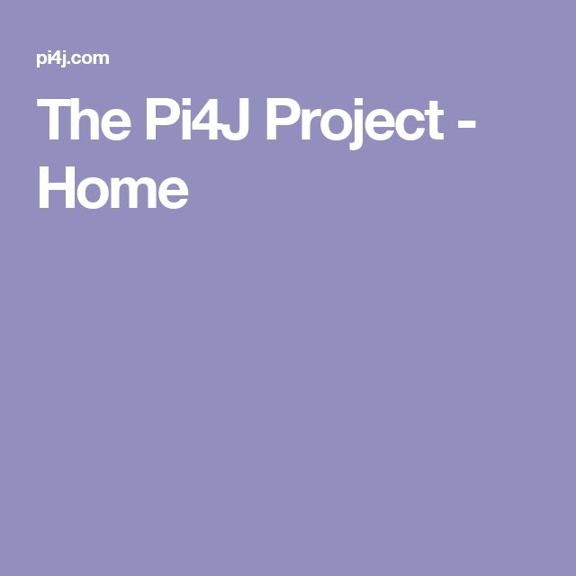 The Pi4J Project - Home