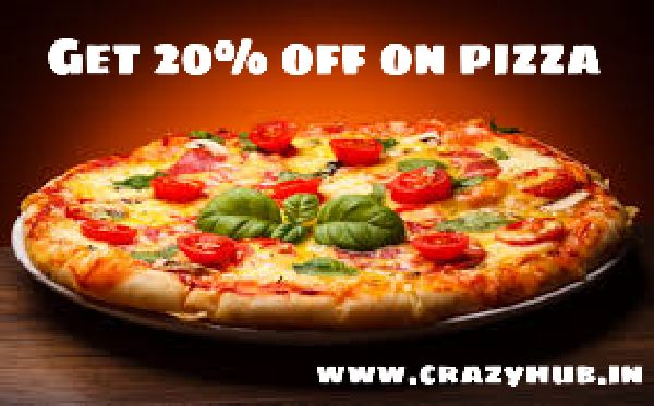Get 20% off on Pizza