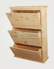 botinero de 60cm y 3 puertas de pino