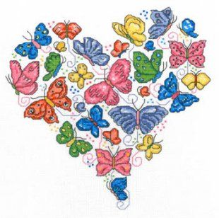 Once Upon A Butterfly is the title of this cross stitch pattern from Imaginating.