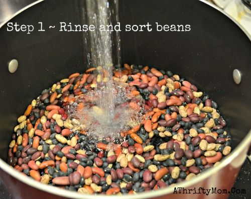 How to make homemade chili with dry beans, Hurst's HamBeens... make it in 5 easy steps