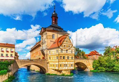 Tableau ou Poster Hôtel de ville de Bamberg, Allemagne