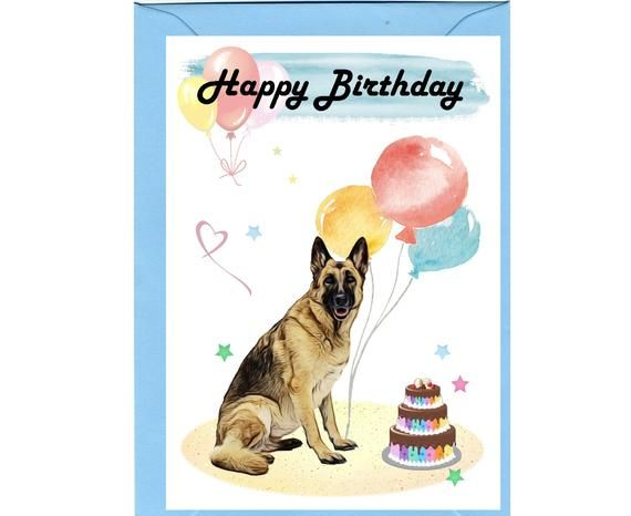 German Shepherd Dog Happy Birthday Card 6 X Etsy In 2021 Happy Birthday Dog Happy Birthday Horse Happy Birthday My Friend