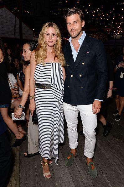 Olivia Palermo and Johannes Huebl | Printed dress + belt | Shirt | Fashion | Style | Denim | Inspiration outfit | Looks | Casual