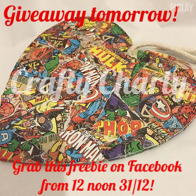 Grab this #Marvel theme freebie tomorrow on Facebook! #giveaway #marvel #geek #barnsley #decopatch #madeinyorkshire #craftycharly #comicbook
