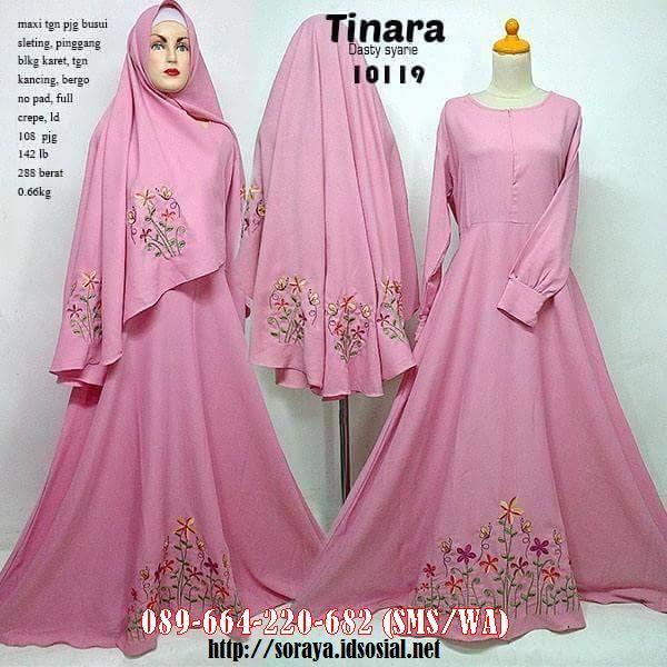 Contoh Gambar Jual Produk Pakaian Wanita Muslimah Cantik Model Tinara Dasty Syarie Full Crape