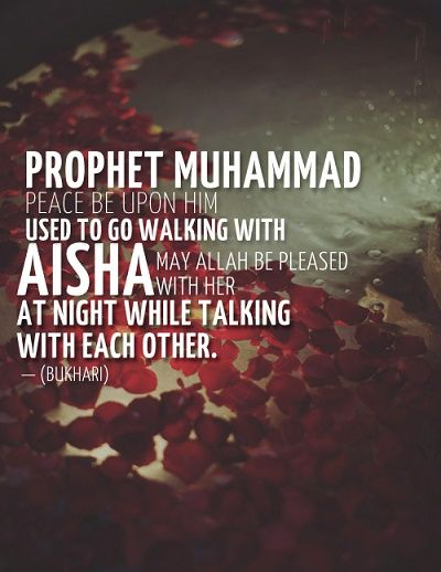During her times, Aisha witnessed many great events that shaped the destiny of the first community of Madina.  One of the great events was the change of direction of the Qibla from Jerusalem to Mecca. She also helped to preserve and protect the sunnah of Prophet Muhammad {s.a.w} by teaching it to others. 'A'isha was once asked to describe the Prophet {s.a.w}, & she replied that he was 'the walking Quran', as he was the Quran translated into action.