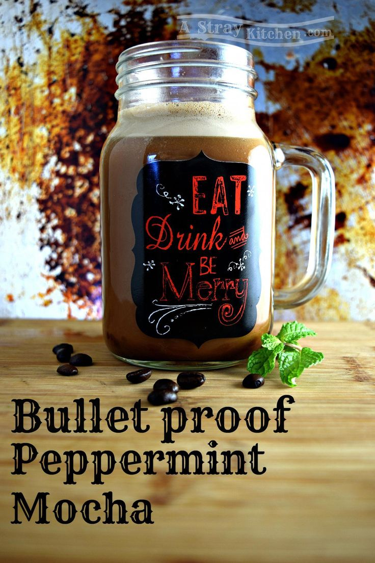 Bullet proof Peppermint Mocha in holiday cup coffeebullet