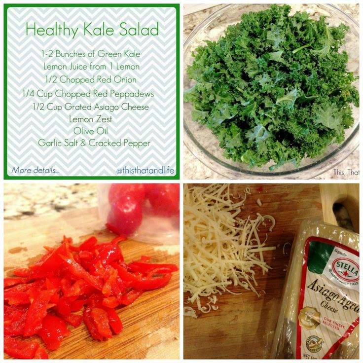 Quick and Healthy Kale Salad Recipe via This, That and ...
