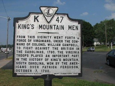 Battle of Kings Mountain - King's Mountain Men - Virginia Historical Markers on Waymarking.com