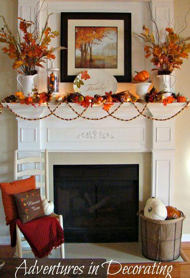 Halloween Mantel Ideas - Mantel Decorations for Hallowen - Country Living