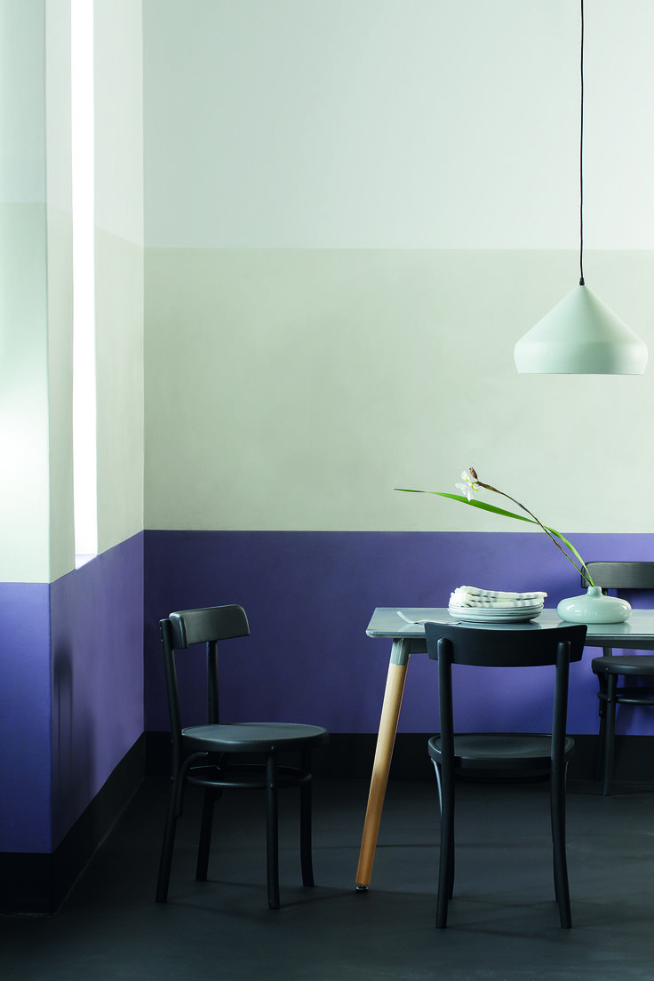 Purple promotes creativity and innovation, making it an ideal colour for your social or work space.  Anonymous palette. Plascon Colour Forecast 2017