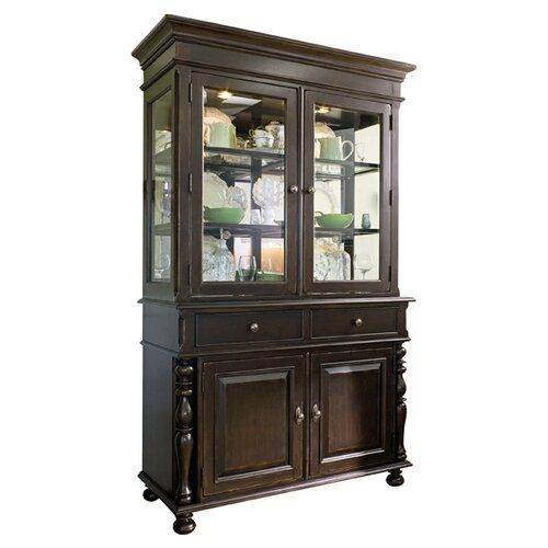 Badgett Extendable Dining Table China Cabinet