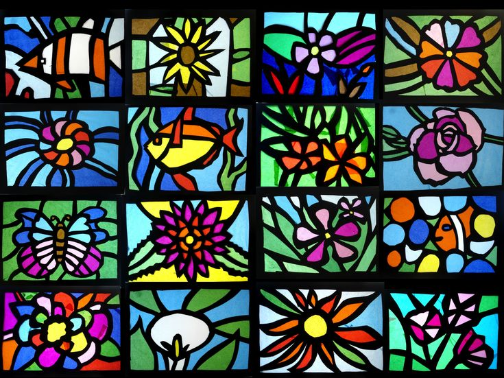 32 Best Art Stained Glass Effect Images On Pinterest