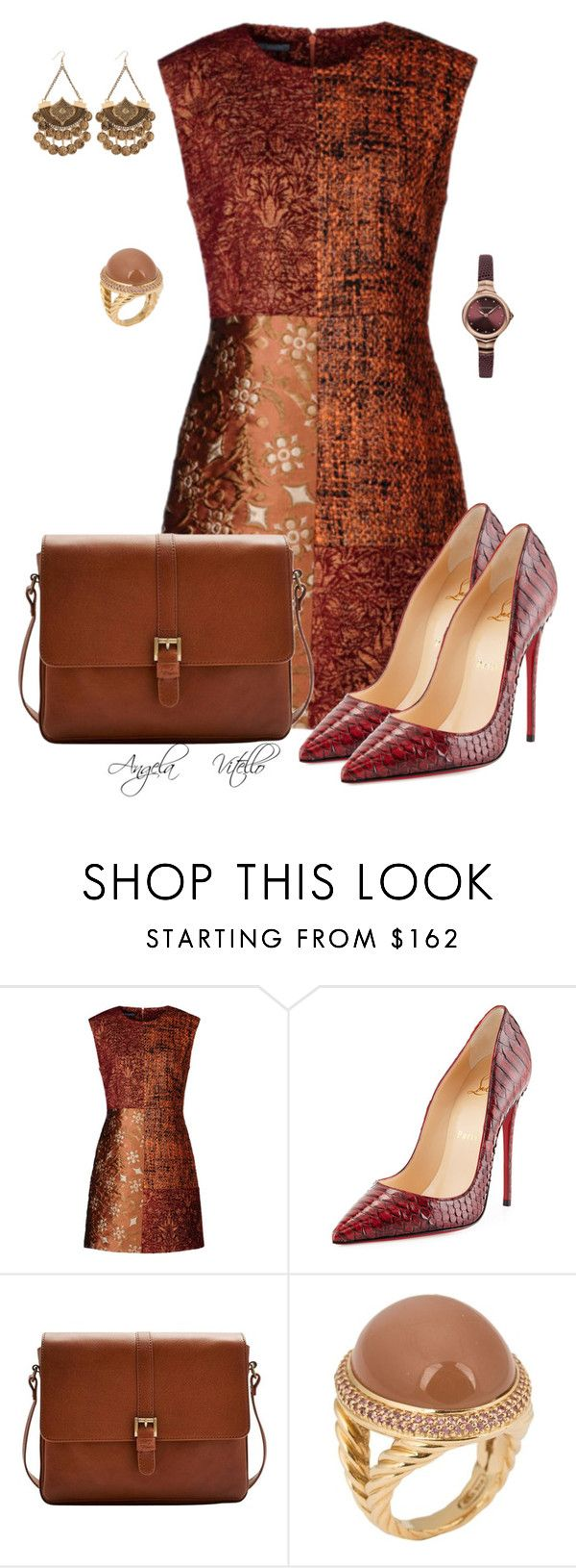 """""""Untitled #626"""" by angela-vitello on Polyvore featuring Christian Louboutin, Joules, David Yurman and Emporio Armani"""
