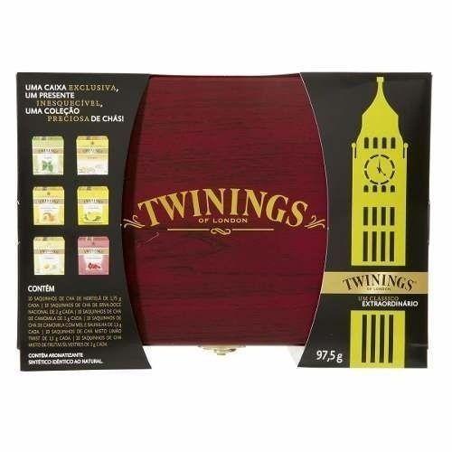 [Twinings] Cha Twinings Caixa De Madeira Com 60 Saches R$ 99,90 Frete Grátis