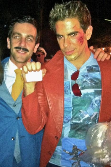 Eli Roth As Tyler Durden Bj Novaks Halloween Party 2011 The