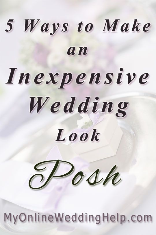 Ideas for planning a posh wedding on a budget...make your inexpensive wedding look more upscale by having a common color, pattern, and other elements throughout the reception and wedding, for example.